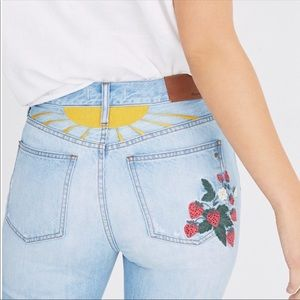 Madewell Perfect Summer Jeans Strawberry Edition